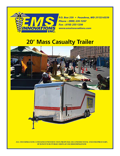 EMS 20 foot Mass Casualty Trailer