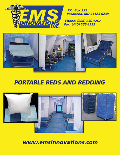 EMS PORTABLE BEDS AND BEDDING